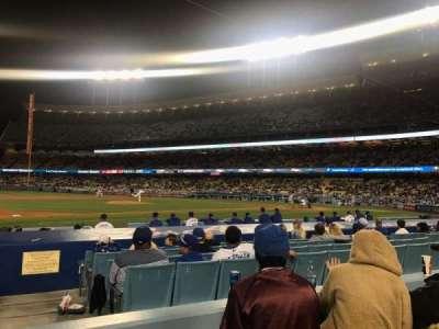 Dodger Stadium, sección: 25FD, fila: C, asiento: 1