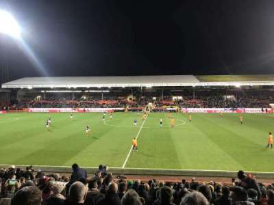 Pittodrie Stadium, sección: South Stand Area T, fila: T, asiento: 127