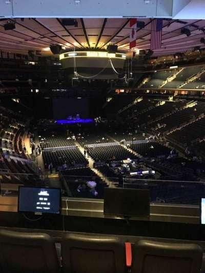 Madison Square Garden, sección: 203, fila: 3, asiento: 3