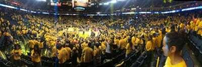 Oracle arena, sección: 108, fila: 10, asiento: 11
