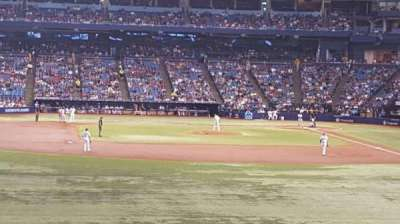 Tropicana Field, sección: 143, fila: JJ, asiento: 5