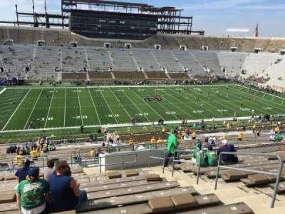 Notre Dame Stadium, sección: 111, fila: 20, asiento: 25