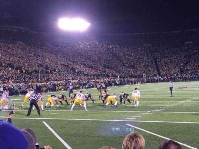 Notre Dame Stadium, sección: Fl18, fila: F, asiento: 1