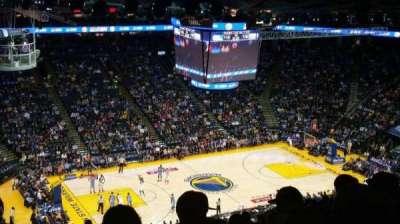 Oracle Arena, sección: 203, fila: 16, asiento: 19