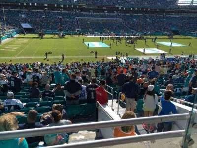 Hard Rock Stadium, sección: 221, fila: 1, asiento: 1