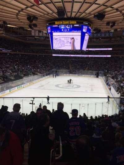 Madison Square Garden, sección: 103WC, fila: 20, asiento: 3