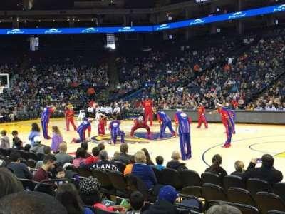 Oracle Arena, sección: 113, fila: 1, asiento: 7