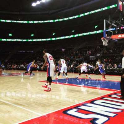The Palace of Auburn Hills, sección: VIP FF, fila: 1, asiento: 4