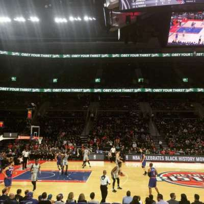 The Palace of Auburn Hills, sección: 101, fila: B, asiento: 9