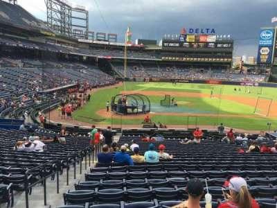 Turner Field, sección: 105R, fila: 28, asiento: 1