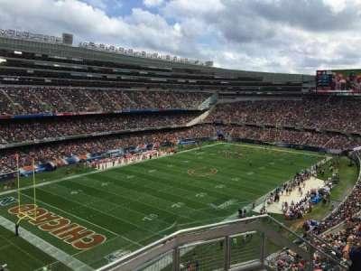 Soldier Field, sección: 445, fila: 3, asiento: 18