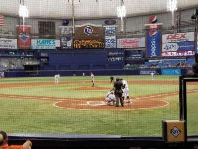 Tropicana Field, sección: 101, fila: L, asiento: 2