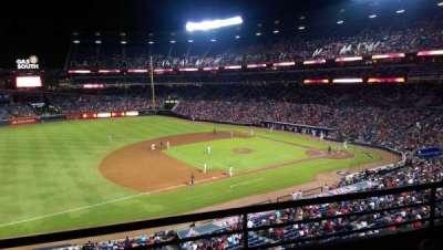 Turner Field, sección: 316, fila: 2, asiento: 109