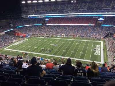 Gillette Stadium, sección: 328, fila: 22, asiento: 9
