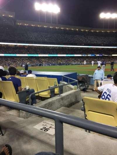 Dodger Stadium, sección: 26FD, fila: A, asiento: 6