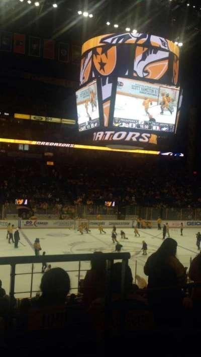 Bridgestone Arena, sección: 104, fila: J, asiento: 1