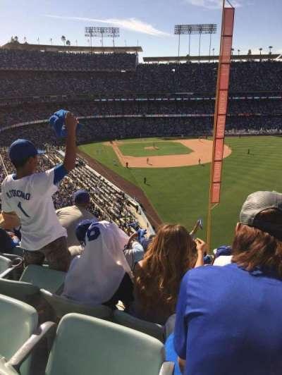 Dodger Stadium, sección: 56Rs, asiento: 20
