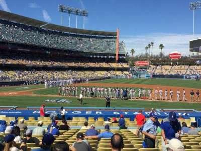 Dodger Stadium, sección: 20FD, fila: S, asiento: 6