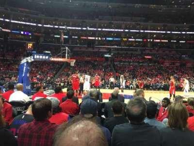 Staples Center, sección: 102, fila: 2, asiento: 9