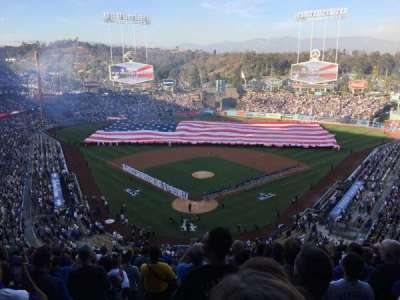Dodger Stadium, sección: 2RS, fila: R, asiento: 1