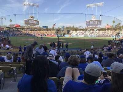 Dodger Stadium, sección: 2fd, fila: l, asiento: 2