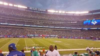 MetLife Stadium, sección: 142, fila: 16, asiento: 1