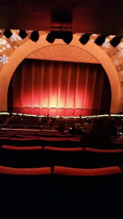 Radio City Music Hall, sección: 1st Mezzanine 5, fila: h, asiento: 512