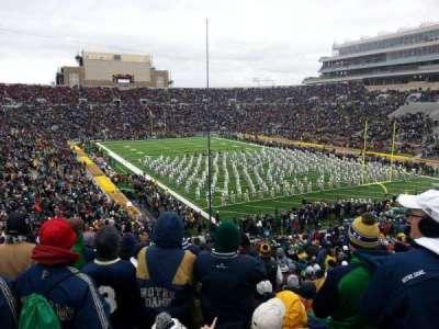 Notre Dame Stadium, sección: 3, fila: 56, asiento: 32