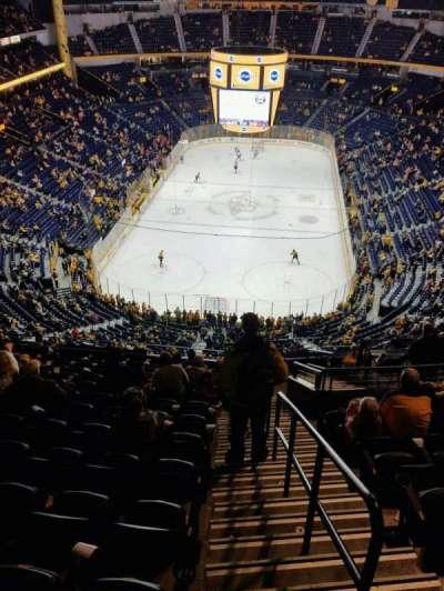 Bridgestone Arena, sección: 301, fila: N, asiento: 1