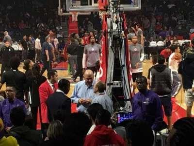 Staples Center, sección: 116, fila: 4, asiento: 1