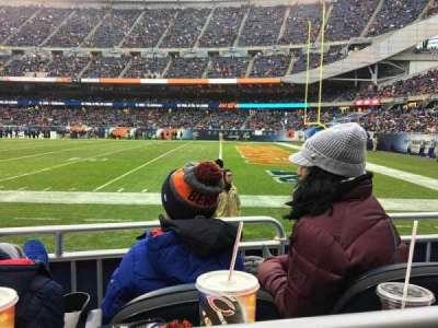 Soldier Field, sección: 104, fila: 1, asiento: 11