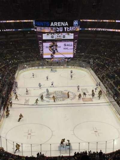 PPG Paints Arena, sección: 228, fila: M, asiento: 14