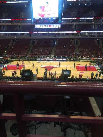 United Center, sección: 317, fila: 1
