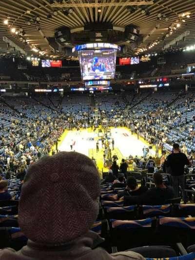 Oracle Arena, sección: 108, fila: 22, asiento: 4