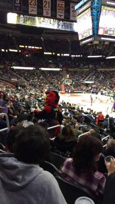 Philips Arena, sección: 106, fila: Q, asiento: 14
