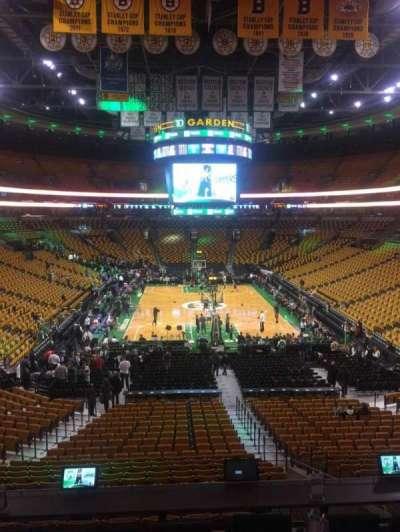 TD Garden, sección: Sports Deck, fila: C, asiento: 32