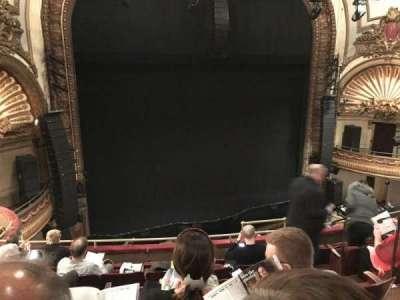 Palace Theatre (Broadway), sección: Mezz, fila: F, asiento: 7
