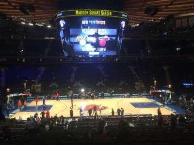 Madison Square Garden, sección: 107, fila: 22, asiento: 9