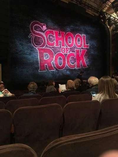Winter Garden Theatre, sección: Orchestra, fila: K, asiento: 15