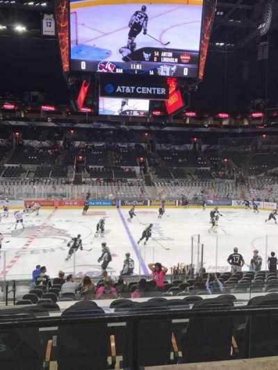 AT&T Center, sección: 108, fila: 21, asiento: 5
