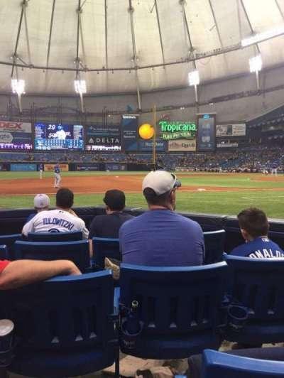 Tropicana Field, sección: 119, fila: F, asiento: 4