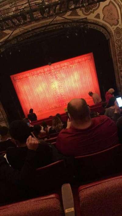 Cadillac Palace Theater, sección: Balcony C, fila: K, asiento: 316