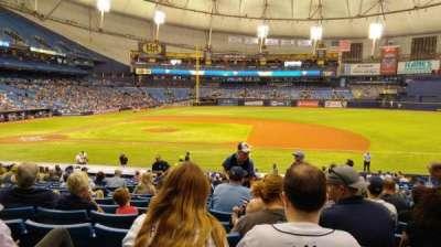 Tropicana Field, sección: 118, fila: EE, asiento: 6