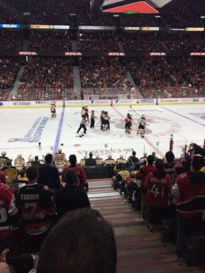 Canadian Tire Centre, sección: 107, fila: L, asiento: 1-2