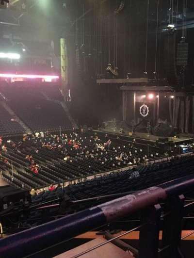 Bridgestone Arena, sección: 105, fila: P, asiento: 22