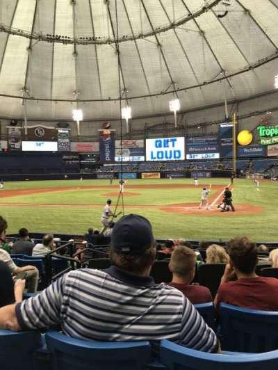 Tropicana Field, sección: 107, fila: P, asiento: 5
