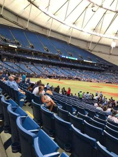 Tropicana Field, sección: 124, fila: V, asiento: 7