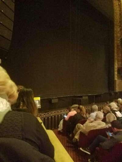 Palace Theatre (Broadway), sección: orch left, fila: f, asiento: 1