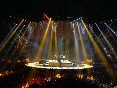 The O2 Arena, sección: 106, fila: N, asiento: 198