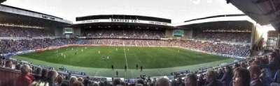 Ibrox Park, sección: Club Deck, fila: K, asiento: 161